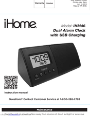 ihome time setting instructions