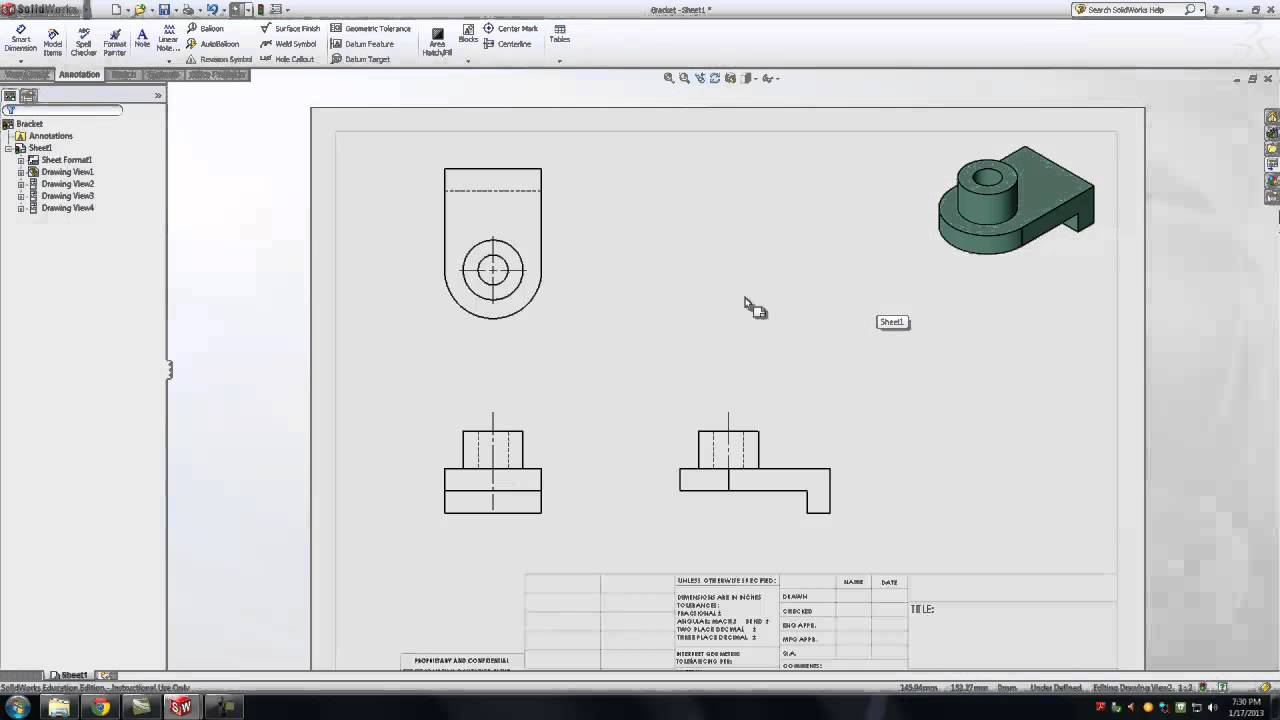 solidworks educational product for instructional use only