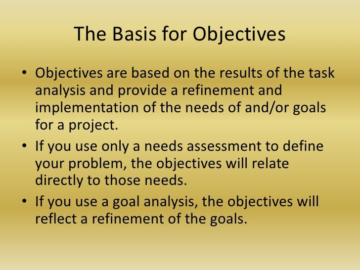 objectives of instructional evaluation